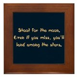 Shoot for the Moon Framed Tile