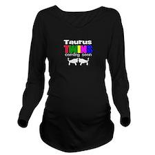 taurus twins Long Sleeve Maternity T-Shirt