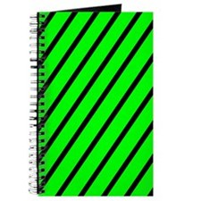 Lime green with black stripes Journal