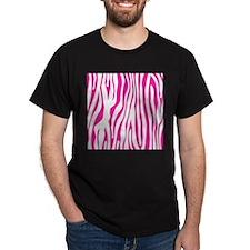 Hot Pink Zebra stripes T-Shirt