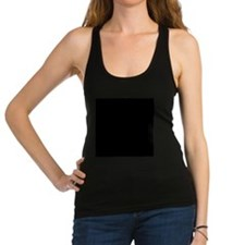 Black solid color Racerback Tank Top