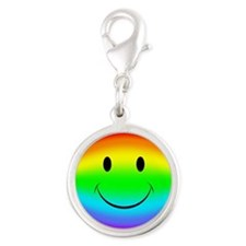 Rainbow Smiley Face Charms