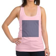 Steel Blue Solid Color Racerback Tank Top