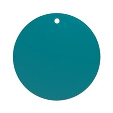 Teal Solid Color Ornament (Round)