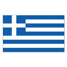 Greece Flag Sticker (rectangle)