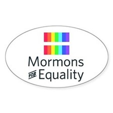 Mormons For Equality Oval Decal