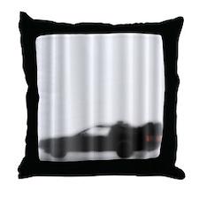 DeLorean Silhouette Throw Pillow