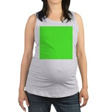 Neon Green solid color Maternity Tank Top