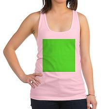 Neon Green solid color Racerback Tank Top