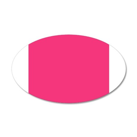 Hot Pink Solid Color Wall Sticker
