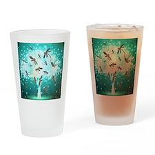 Dragonfly Glow Tree Drinking Glass