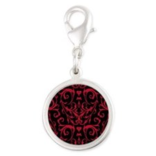 Black And Red Damask Pattern Charms