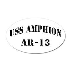 USS AMPHION 20x12 Oval Wall Decal