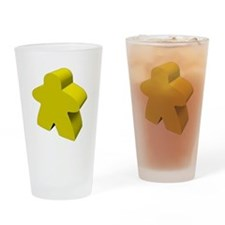 Yellow Meeple Drinking Glass