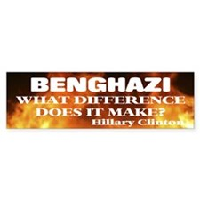 Benghazi What Difference Does It Bumper Car Sticker