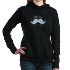Mustache Little Man Women's Hooded Sweatshirt