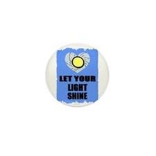 LET YOUR LIGHT SHINE Mini Button (10 pack)