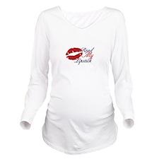 Read My Lipstick Long Sleeve Maternity T-Shirt