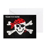 PERSONALIZED PIRATE THANK YOU CARDS (Pk of 10)