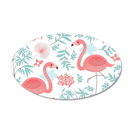 Pink Flamingos Wall Decal