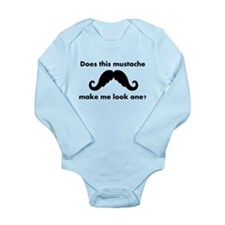 Does This Mustache Make Me Look One? Body Suit