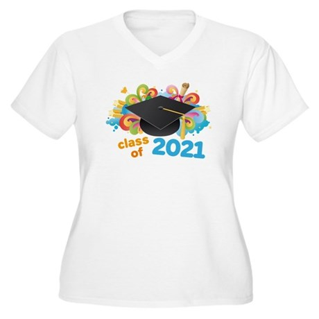 2021 graduation Women's Plus Size V-Neck T-Shirt