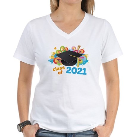 2021 graduation Women's V-Neck T-Shirt