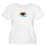 2024 graduati Women's Plus Size Scoop Neck T-Shirt