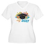2027 graduation Women's Plus Size V-Neck T-Shirt