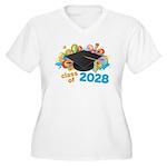 2028 graduation Women's Plus Size V-Neck T-Shirt