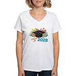 2028 graduation Women's V-Neck T-Shirt