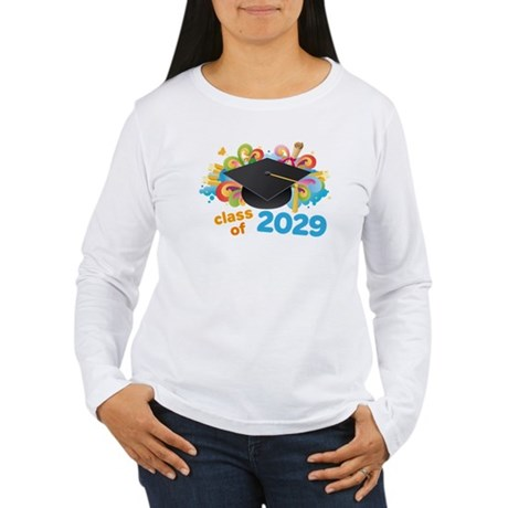2029 graduation Women's Long Sleeve T-Shirt