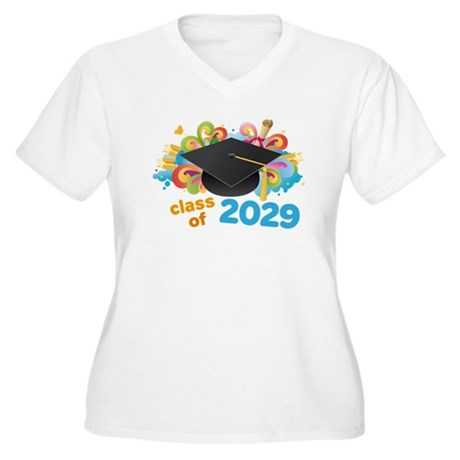 2029 graduation Women's Plus Size V-Neck T-Shirt