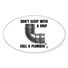PLUMBER Oval Bumper Stickers