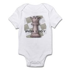 Chess Queen: Iron Lady (Brown Infant Bodysuit