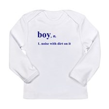 Boy noise with dirt Long Sleeve Infant T-Shirt