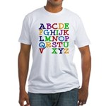 Alphabet With No W Fitted T-Shirt