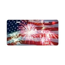 4th of July Aluminum License Plate