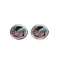 Memorial Day Oval Cufflinks