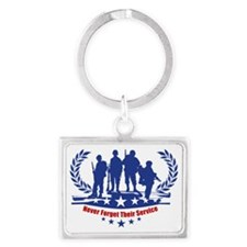 Memorial Day Landscape Keychain