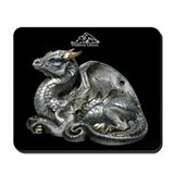 Silver Grey Old Warrior Mousepad