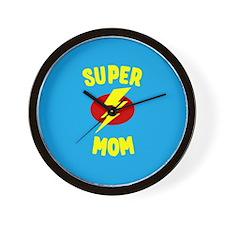 Super Mom Supermom Wall Clock