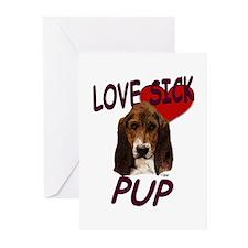 Love Sick Basset Greeting Cards (Pk of 10)
