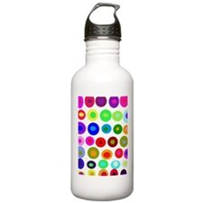 Dots and Circles Water Bottle