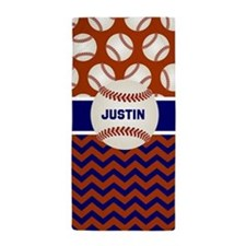 Red Blue Baseball Personalized Beach Towel