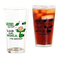 2014 Stick Grad 1.1 Green Drinking Glass