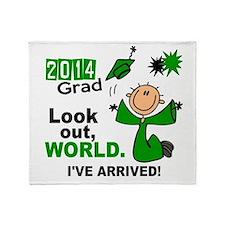 2014 Stick Grad 1.1 Green Throw Blanket