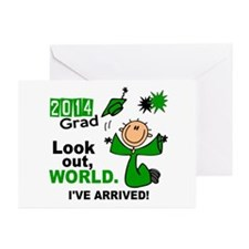 2014 Stick Grad 1.1 Gree Greeting Cards (Pk of 20)