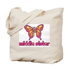 Middle Sister Butterfly Tote Bag