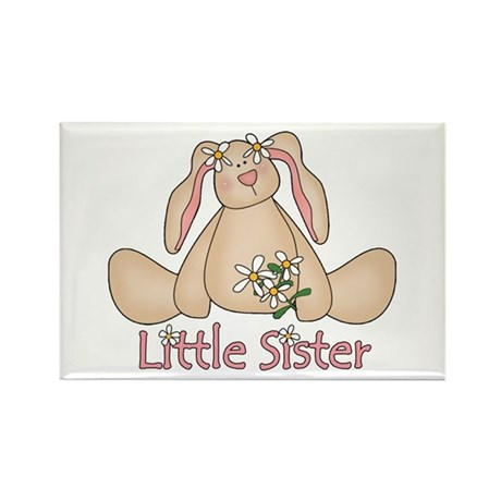 Daisy Bunny Little Sister Rectangle Magnet (100 pa